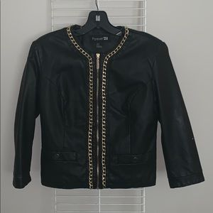 Forever 21 faux leather coat
